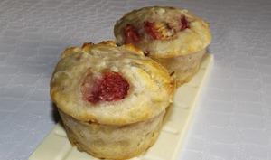Muffins aux fraises et au chocolat blanc