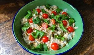 Salade d'aubergine au tahini