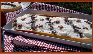 Tarte au chocolat et mousse coco