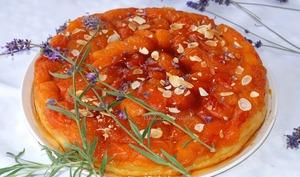 Tatin abricots lavande et amandes