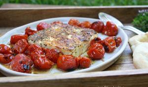 Feta grillée et tomates cerises