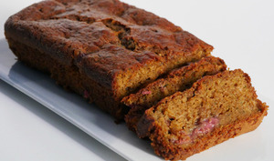 Cake moelleux courgette framboise
