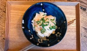 Salade de radis daikon au shiso