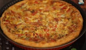 Quiche tomates mozzarella aux poivrons grillés