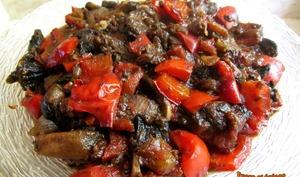 Ragoût de poivrons et champignons
