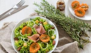 Salade aux abricots rôtis