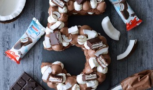 Number Cake Kinder Pingui Coco