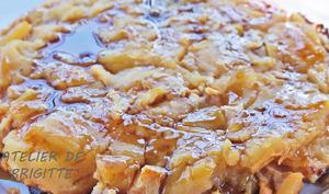 Tarte pudding aux pommes, comme une Tatin