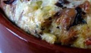 Clafoutis Mozzarella, Tomates, Poivron et Sardines