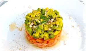 Tartare de Saumon, Avocat & Melon