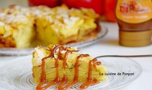 Gâteau invisible aux pommes et combava et son filet de caramel au beurre salé Raffolé