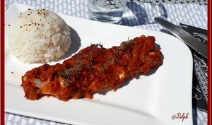 Filet de colin au Pesto Rosso