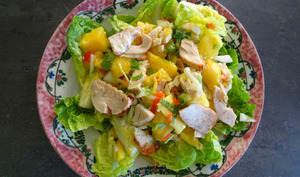 Salade de poulet, mangue et piments rouges de Nigella Lawson