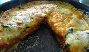 Tarte tortilla à la viande hachée