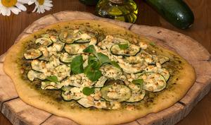 Pizza feta et courgettes