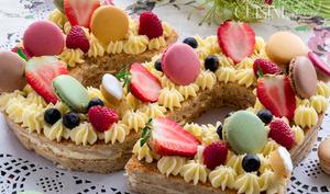 letter cake, gateau d'anniversaire tendance