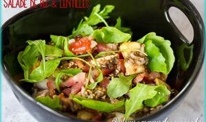 Salade de riz et lentilles - Quelques Grammes De Gourmandise