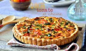 Tarte à la tomate et chèvre, recette facile