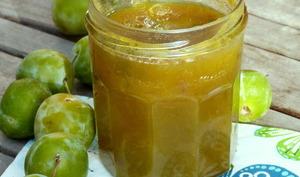 Confiture de reine-claudes au miel