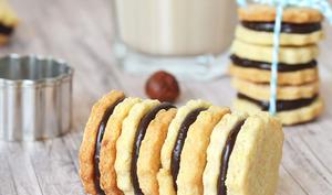 Biscuits noisette et ganache chocolat