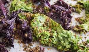 Chips de chou kale aux algues