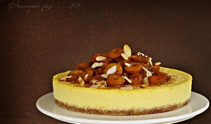 Cheesecake fleur d'oranger, mirabelles