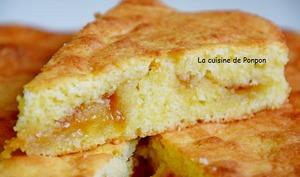 Gâteau moelleux à la confiture de mirabelle, aux blancs d'oeufs