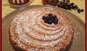 Cake aux raisins et ricotta