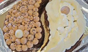 Gâteau yin yang poire chocolat