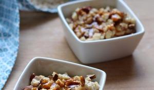 Porridge aux noisettes et caramel au beurre salé