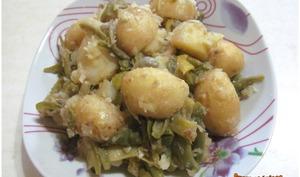 Pommes de terre aux haricots verts
