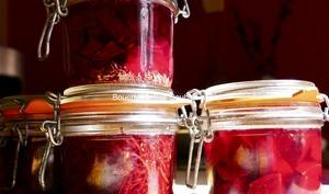 Conserves de betteraves lacto-fermentées
