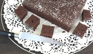 Gâteau au chocolat à la courgette et huile d'olive
