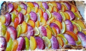 Tarte aux Fruits d'été & Amaretti