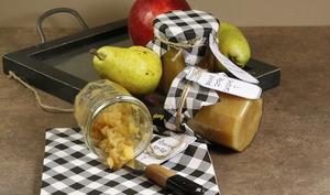 Confiture pomme poire au caramel salé