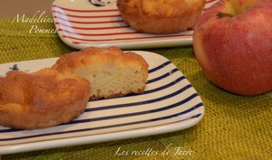 Tarte madeleine aux pommes