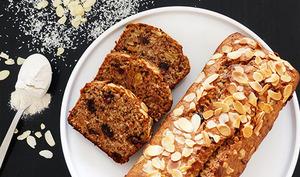 Gâteau Keto noix et raisins secs