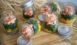 Salade in a jar -