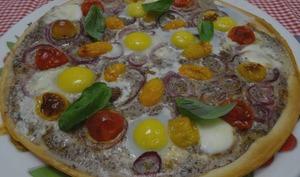 Pizza végétarienne à la préparation aux truffes