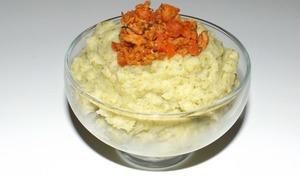 Purée de pommes de terre et de brocolis au cumin