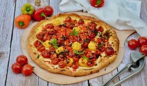 Tarte tomates cerises et poivrons