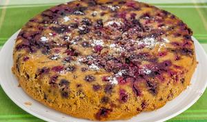 Gâteau renversé aux mûres