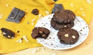 Cookies double chocolat et beurre de cacahuète