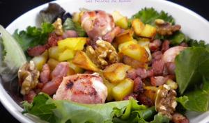 Salade de chèvre chaud aux lardons et ma vinaigrette maison