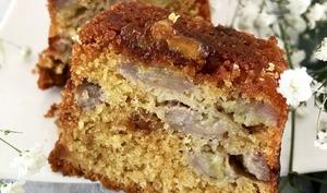 Cake banane et fudge caramel