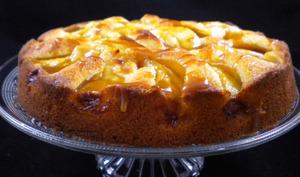 Gâteau aux pommes et son caramel à la pomme