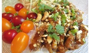 Bol asiatique aux porc, nouilles et légumes - sucreetepices.over-blog.com