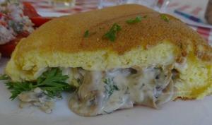 Omelette soufflée aux champignons