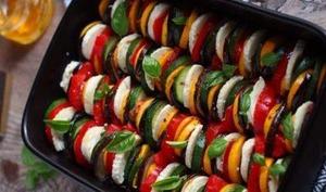 Tian de légumes de saison et Mozzarella