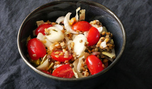 Salade lentilles, graines et endive